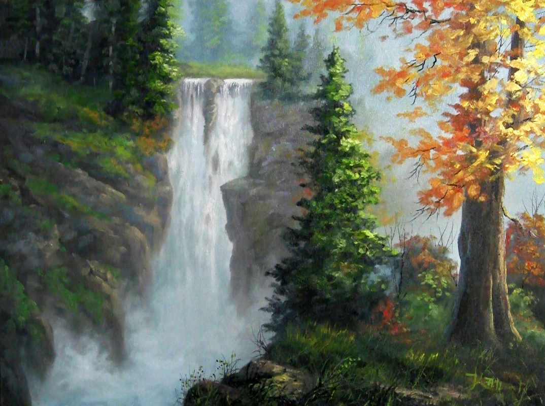 How to paint a waterfall