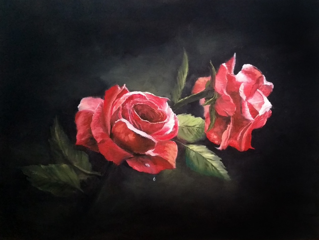 Painting of rose kevin hill