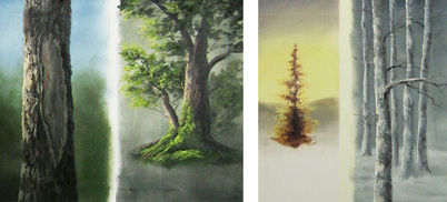 tree paintings in oils