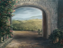 Italian Landscape painting in oils