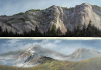 Kevin Hill painting mountain