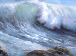 Windy Crashing Wave painting